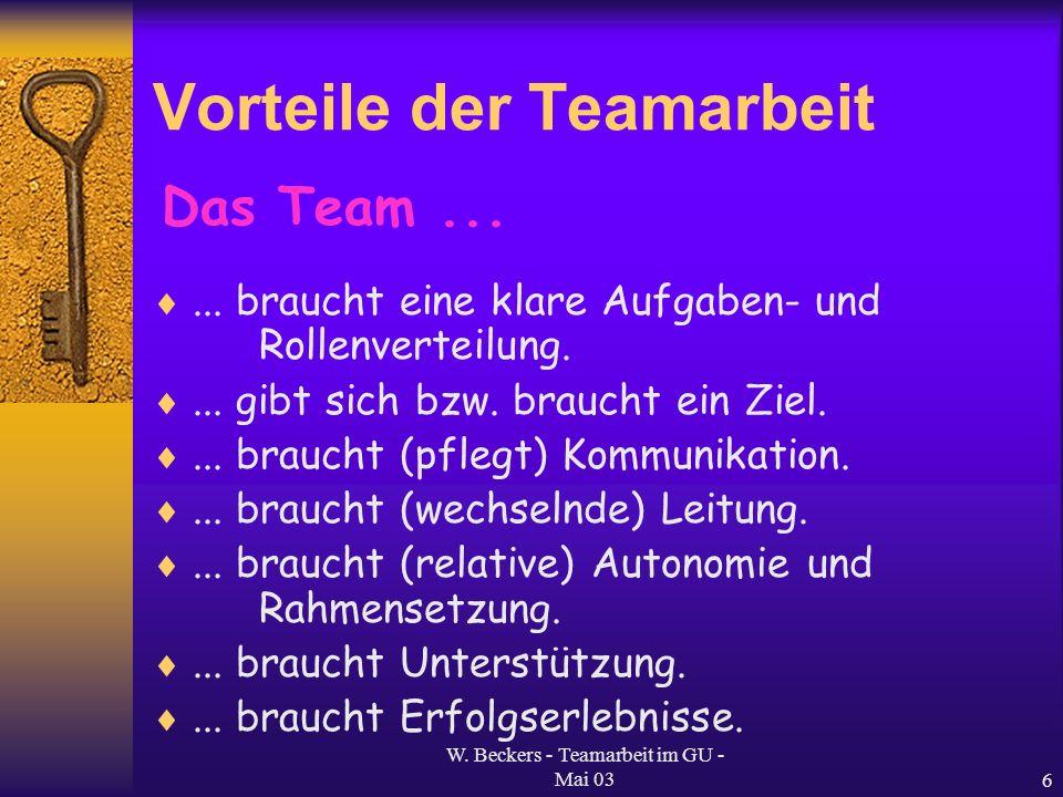 Vorteile der Teamarbeit