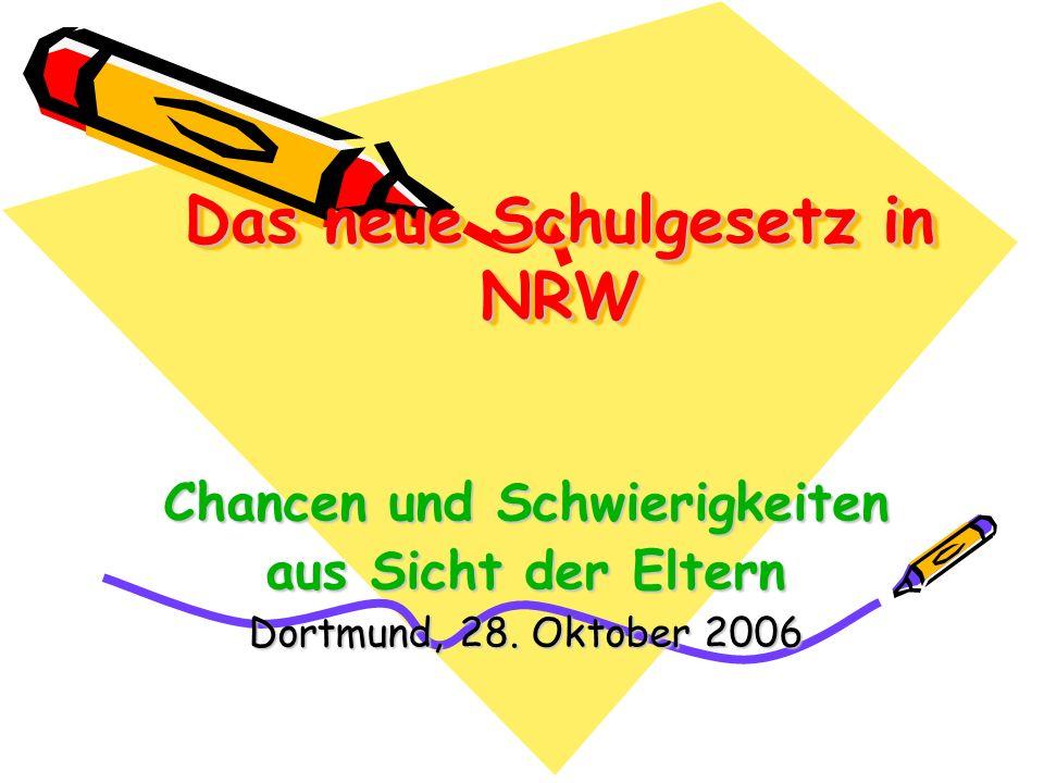 Das neue Schulgesetz in NRW