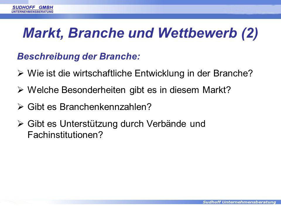 Markt, Branche und Wettbewerb (2)