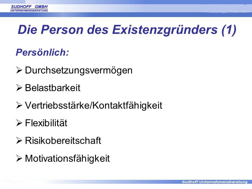 Die Person des Existenzgründers (1)