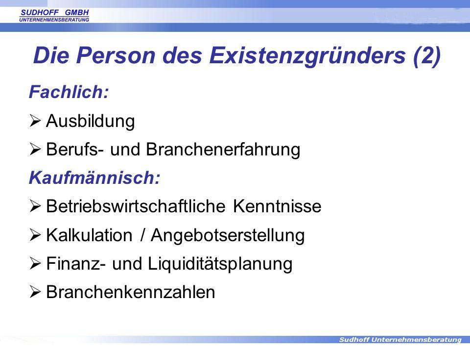 Die Person des Existenzgründers (2)