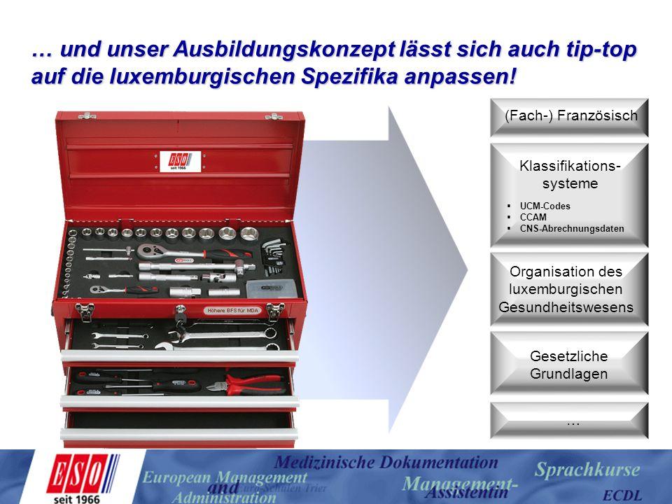 … und unser Ausbildungskonzept lässt sich auch tip-top auf die luxemburgischen Spezifika anpassen!