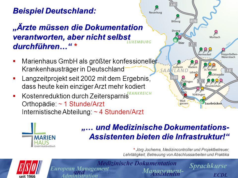 """Beispiel Deutschland: """"Ärzte müssen die Dokumentation"""