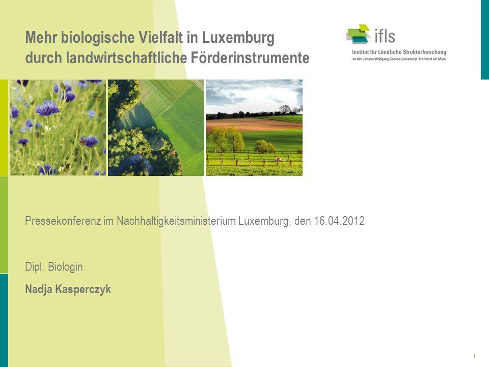 Mehr biologische Vielfalt in Luxemburg durch landwirtschaftliche Förderinstrumente