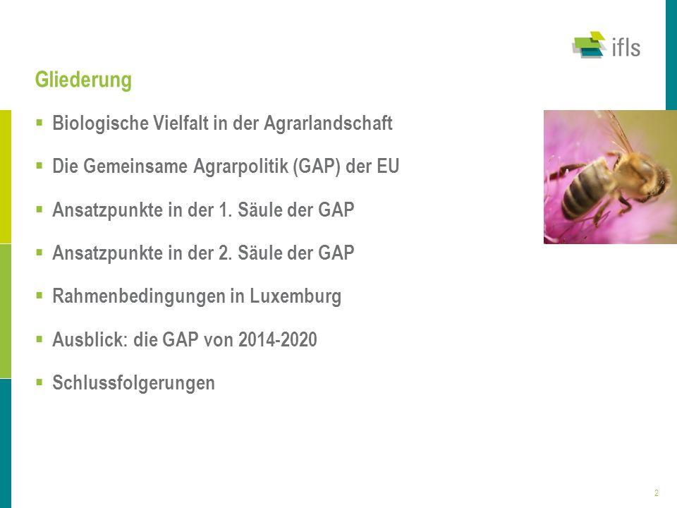 Gliederung Biologische Vielfalt in der Agrarlandschaft