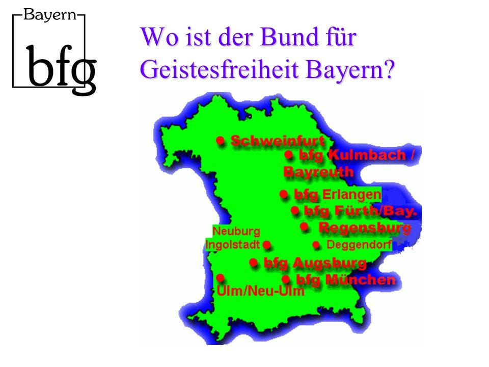 Wo ist der Bund für Geistesfreiheit Bayern