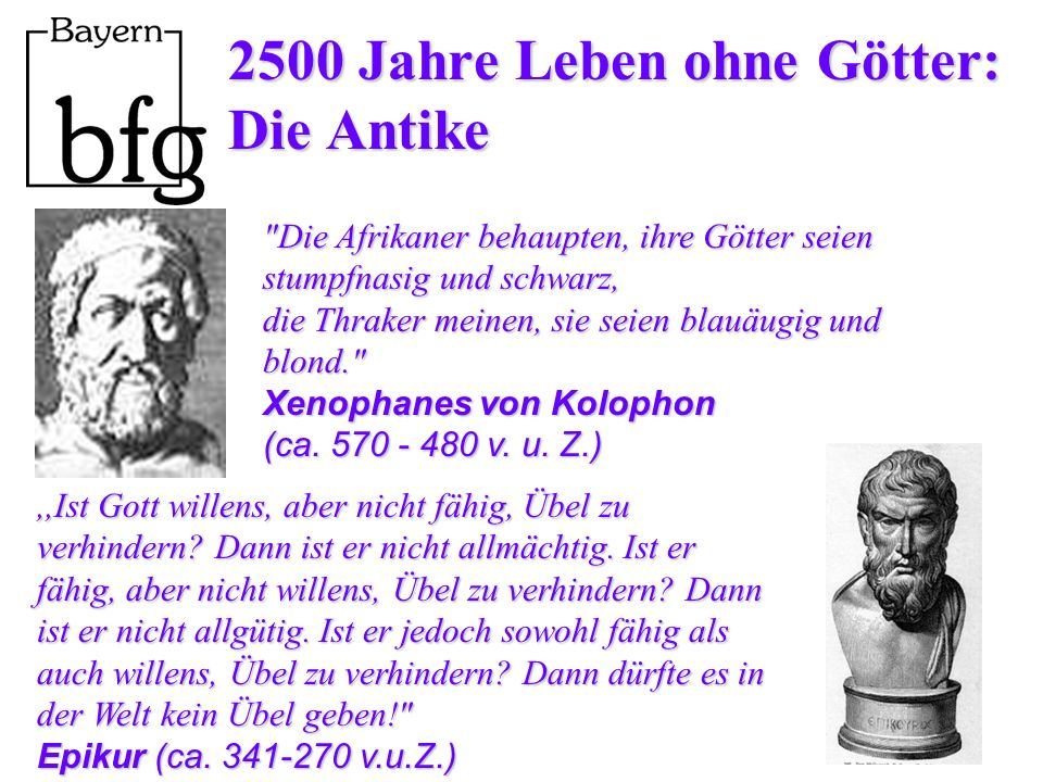2500 Jahre Leben ohne Götter: Die Antike