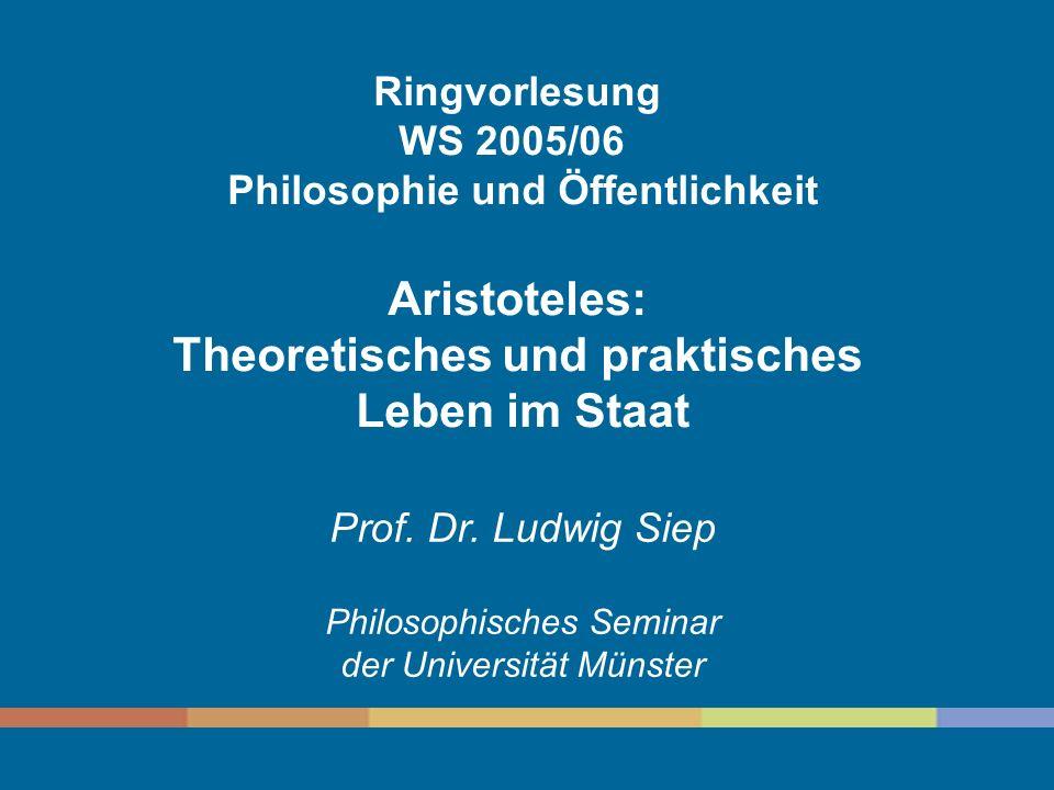 Philosophie und Öffentlichkeit Theoretisches und praktisches