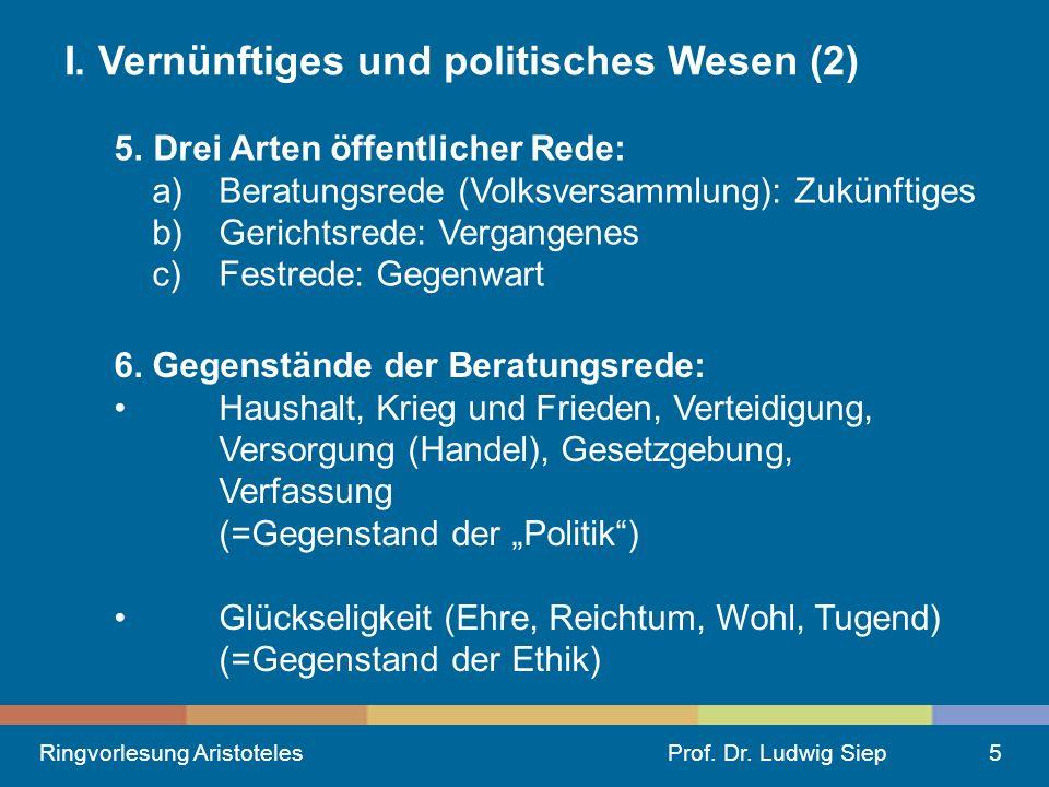 I. Vernünftiges und politisches Wesen (2)