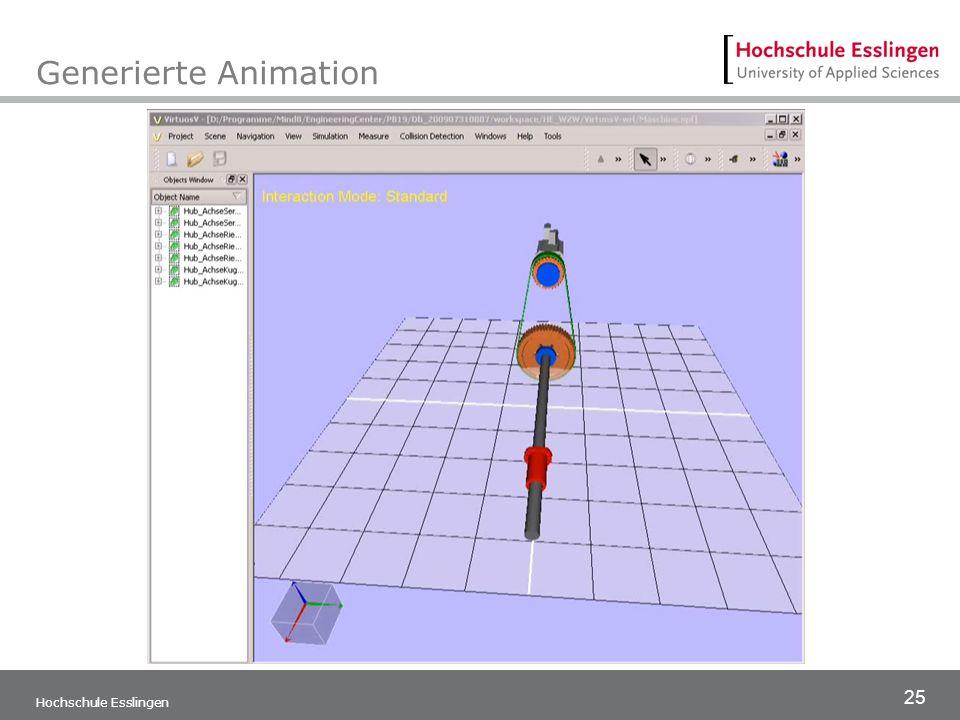 Generierte Animation Hochschule Esslingen