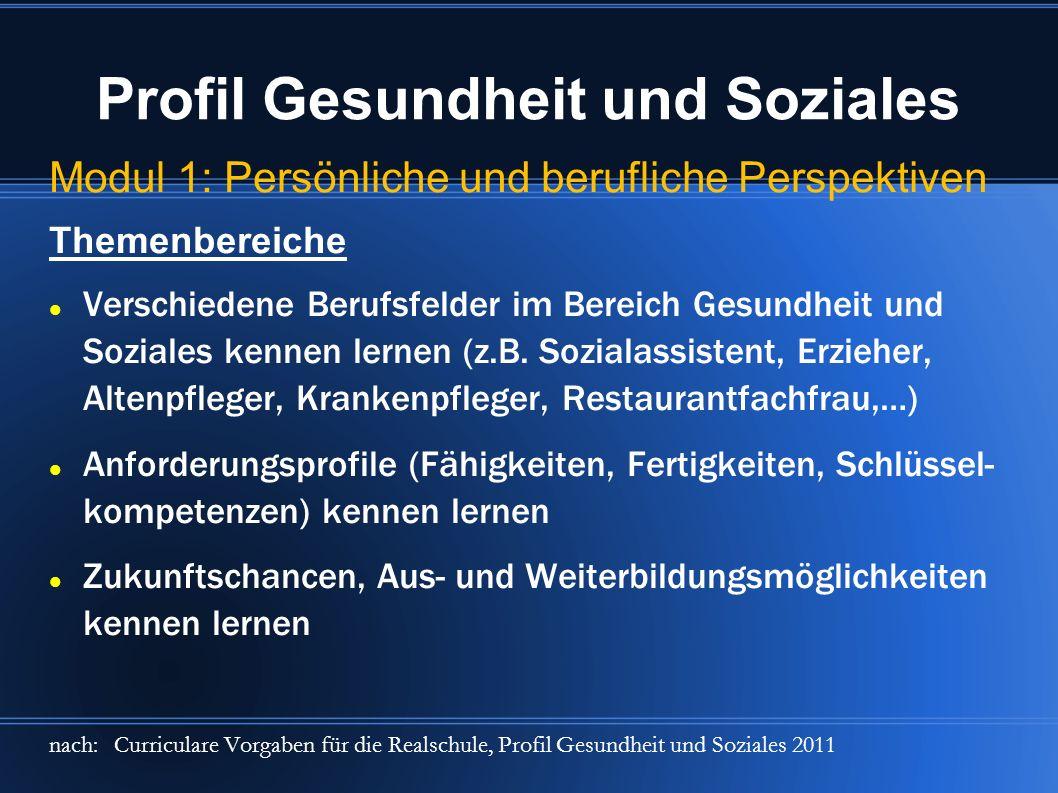 Profil Gesundheit und Soziales