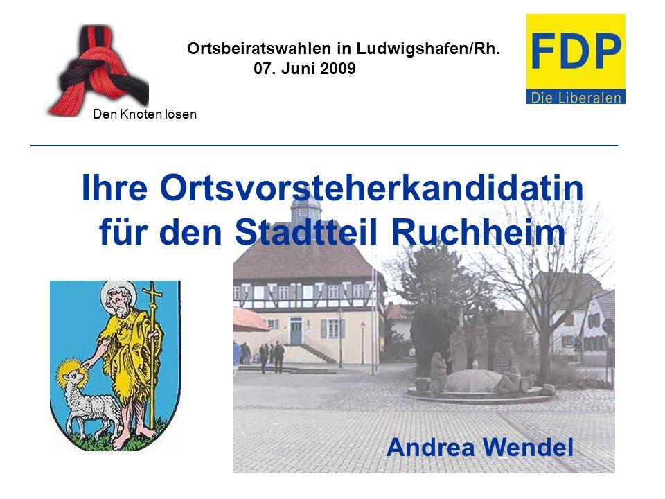 Ihre Ortsvorsteherkandidatin für den Stadtteil Ruchheim