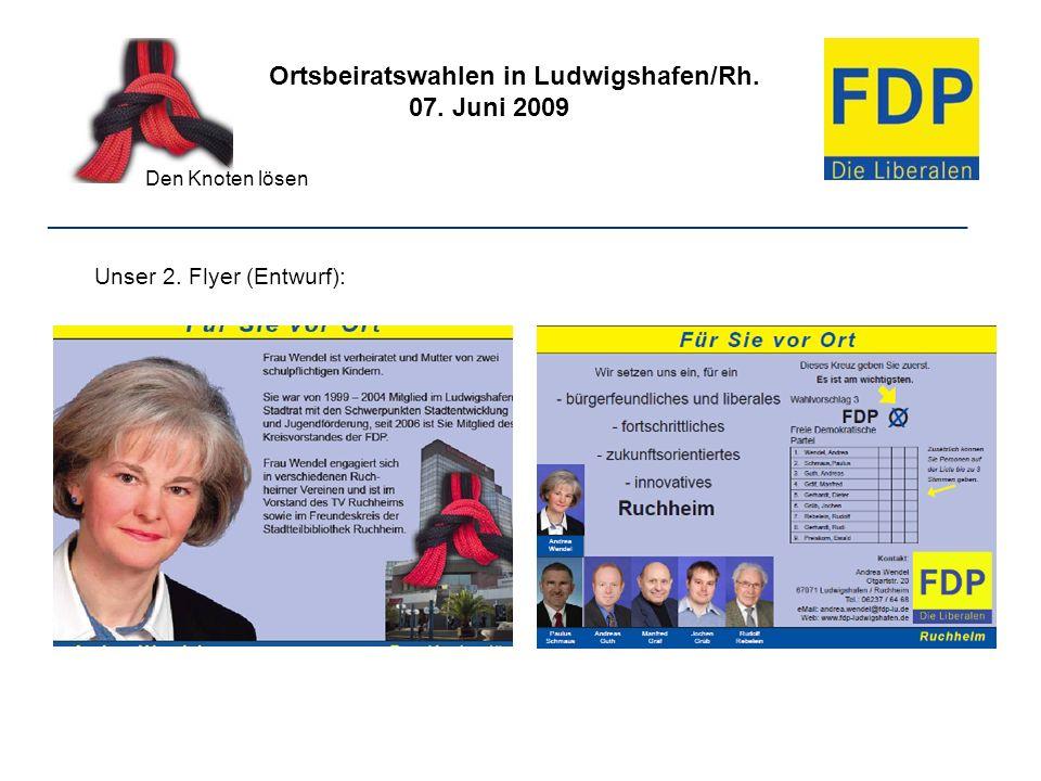 Ortsbeiratswahlen in Ludwigshafen/Rh. 07. Juni 2009