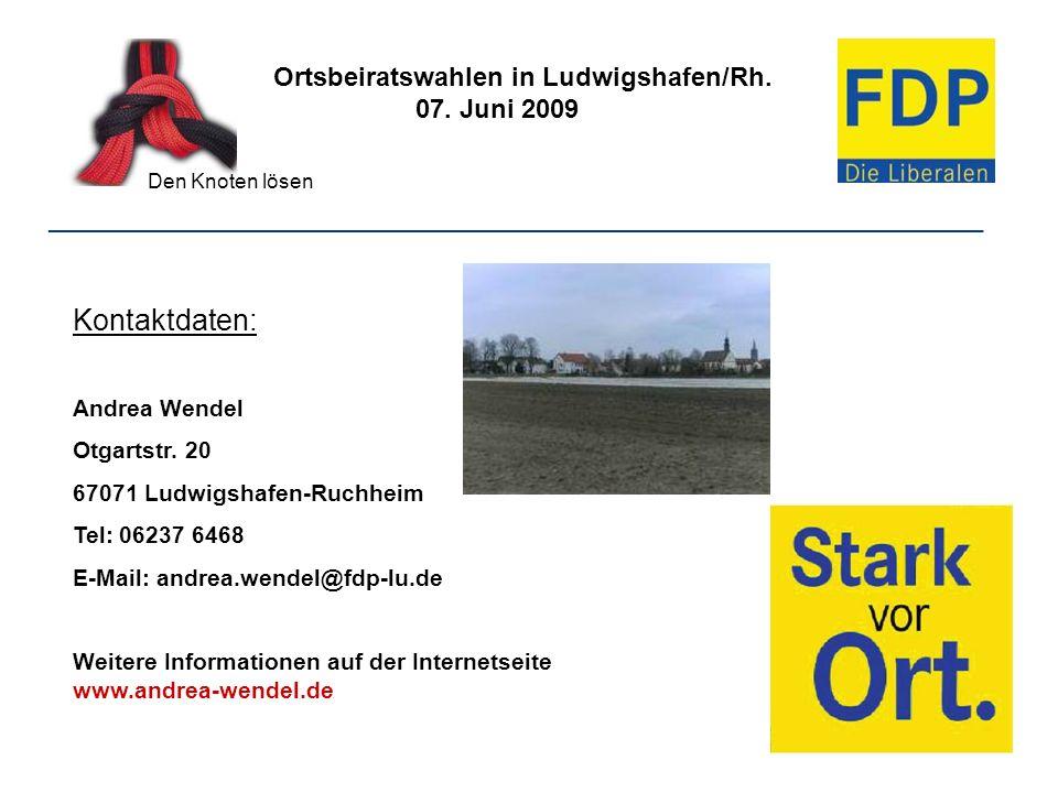 Kontaktdaten: Ortsbeiratswahlen in Ludwigshafen/Rh. 07. Juni 2009