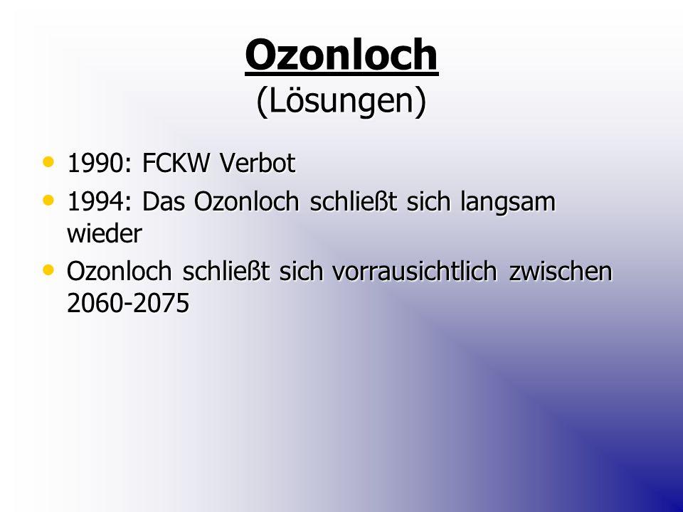 Ozonloch (Lösungen) 1990: FCKW Verbot