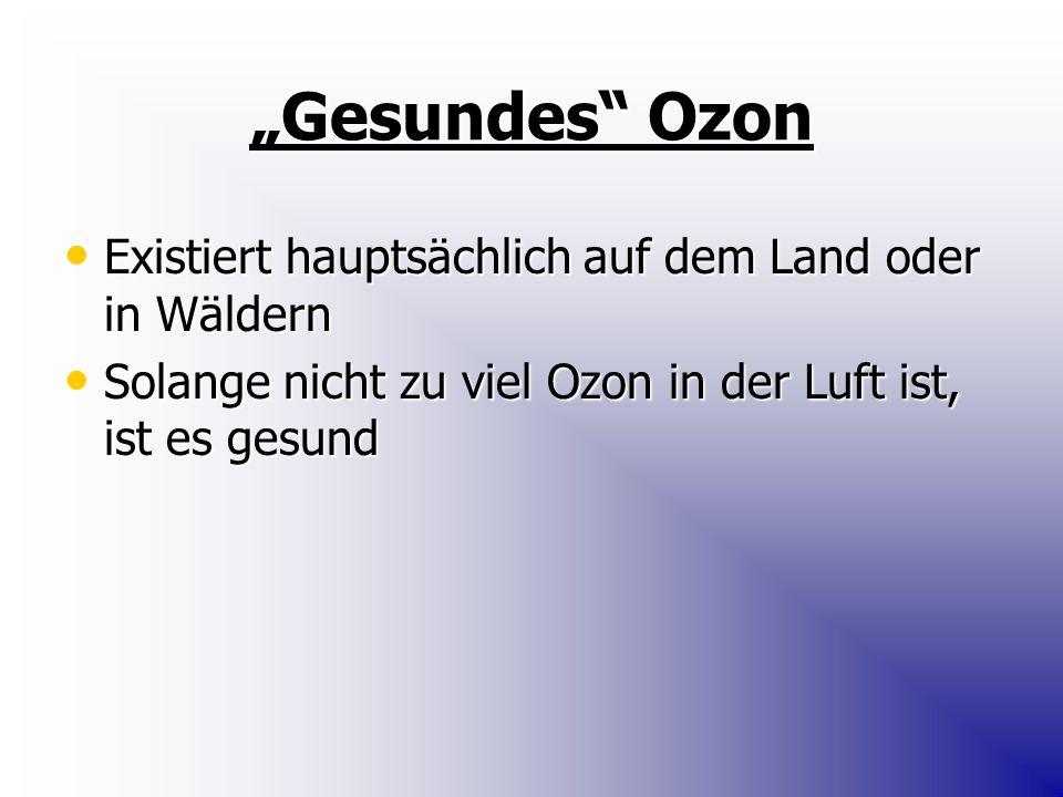 """""""Gesundes Ozon Existiert hauptsächlich auf dem Land oder in Wäldern"""