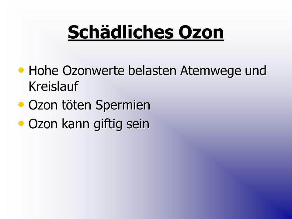 Schädliches Ozon Hohe Ozonwerte belasten Atemwege und Kreislauf