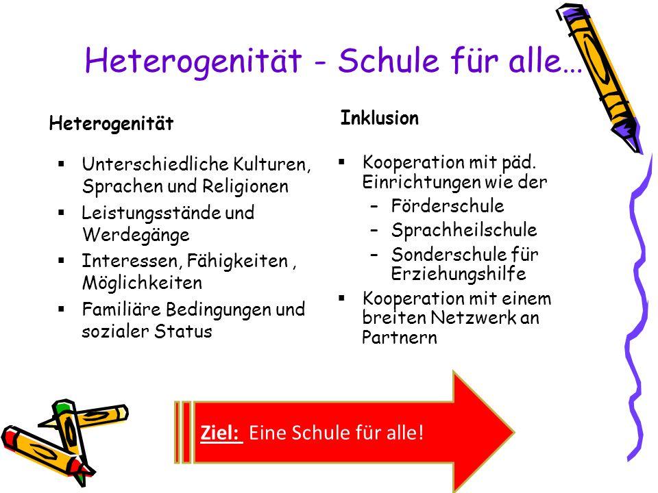 Heterogenität - Schule für alle…