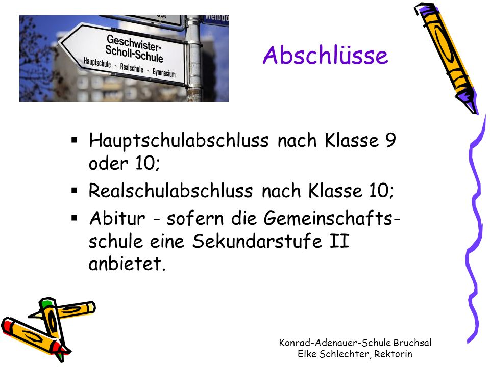 Konrad-Adenauer-Schule Bruchsal Elke Schlechter, Rektorin