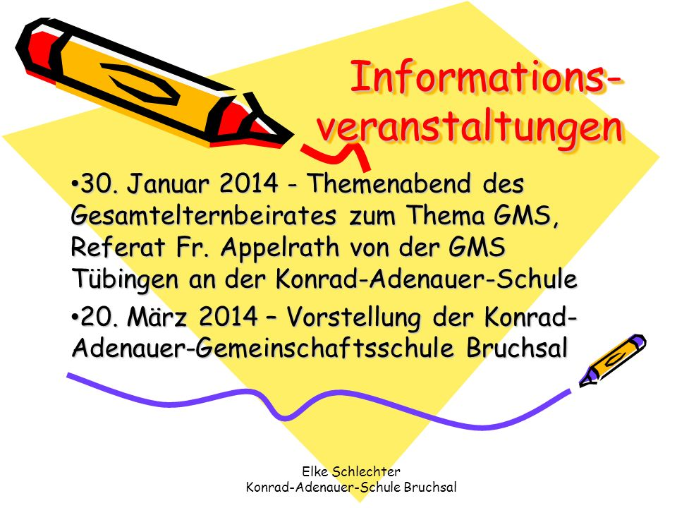 Informations-veranstaltungen