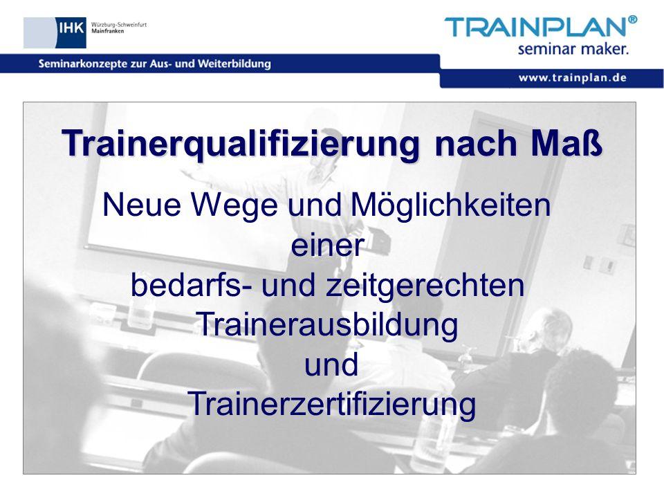 Trainerqualifizierung nach Maß
