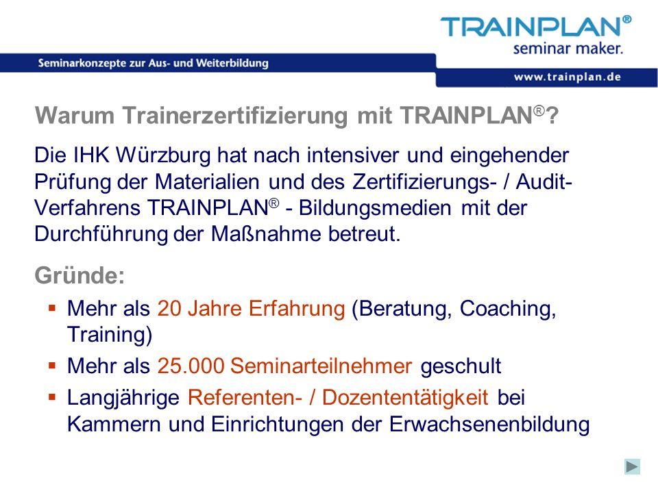 Warum Trainerzertifizierung mit TRAINPLAN®