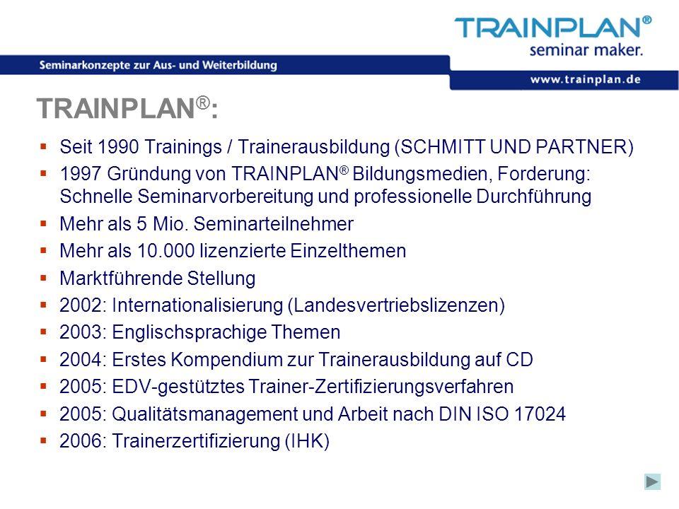 TRAINPLAN®:Seit 1990 Trainings / Trainerausbildung (SCHMITT UND PARTNER)