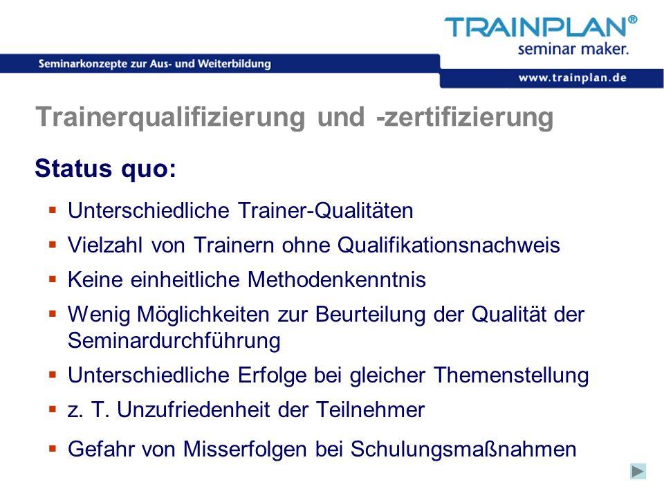 Trainerqualifizierung und -zertifizierung