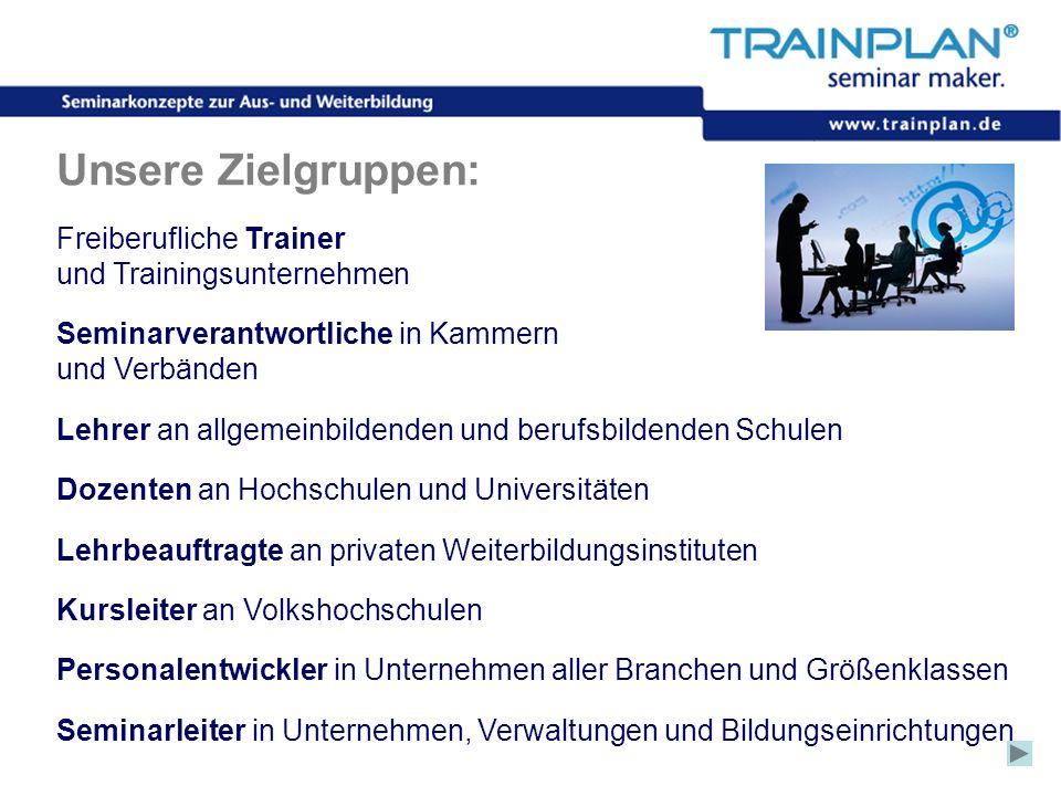 Unsere Zielgruppen: Freiberufliche Trainer und Trainingsunternehmen