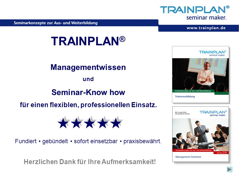 TRAINPLAN® Managementwissen Seminar-Know how