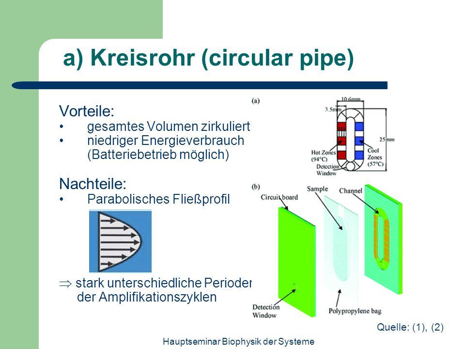 a) Kreisrohr (circular pipe)