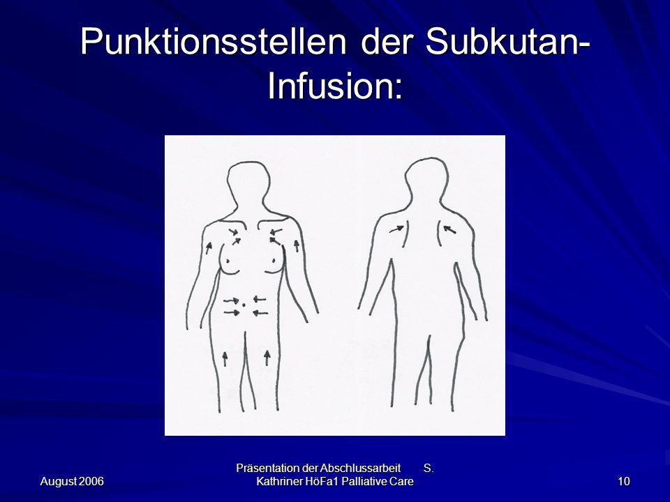 Punktionsstellen der Subkutan-Infusion: