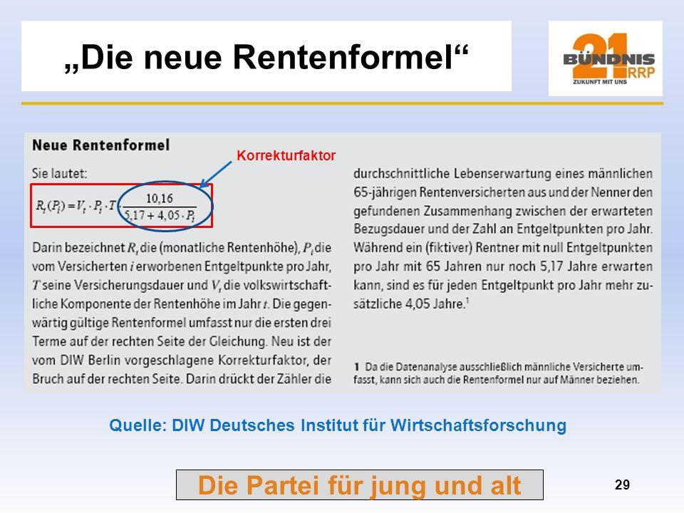 """""""Die neue Rentenformel"""