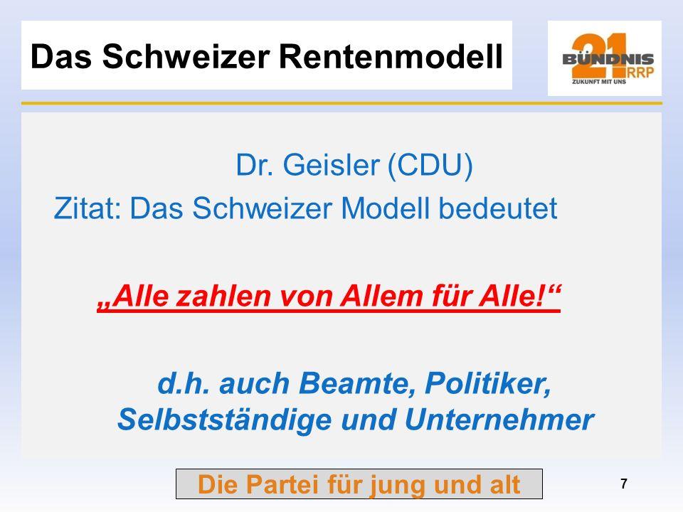 Das Schweizer Rentenmodell