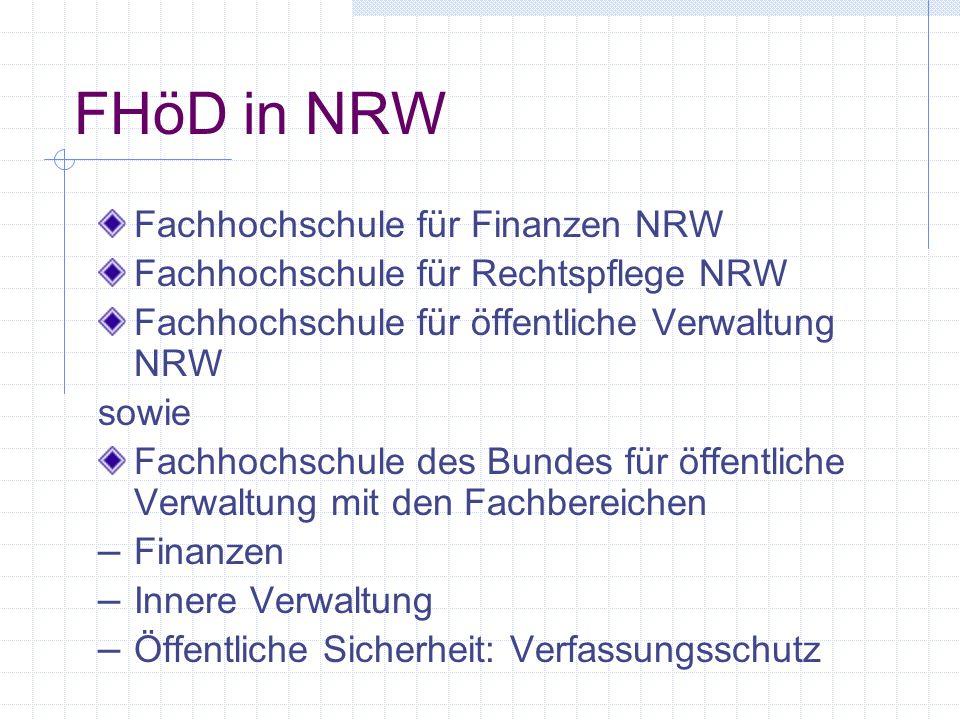 FHöD in NRW Fachhochschule für Finanzen NRW