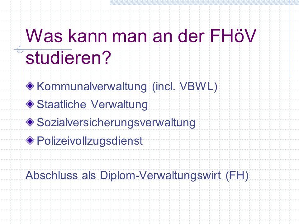 Was kann man an der FHöV studieren