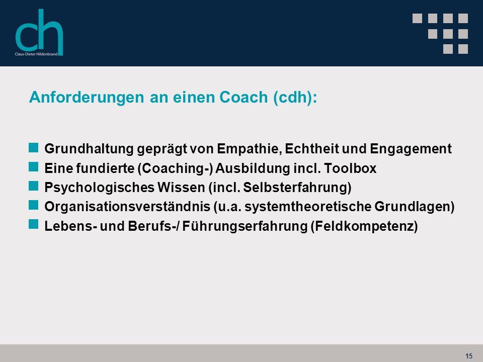 Anforderungen an einen Coach (cdh):