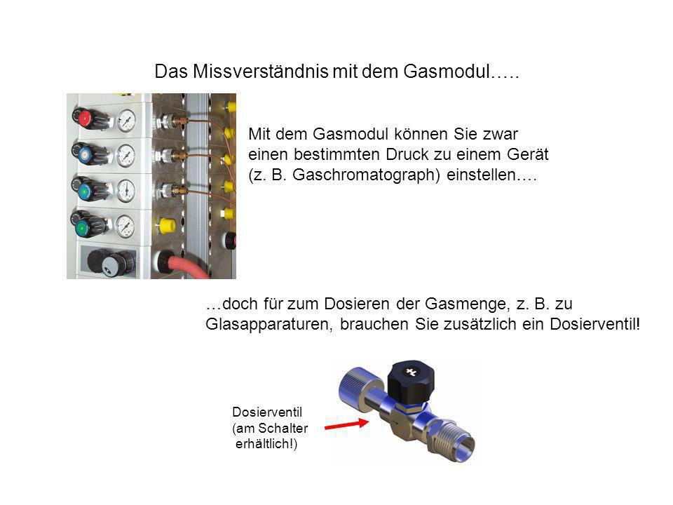 Das Missverständnis mit dem Gasmodul…..