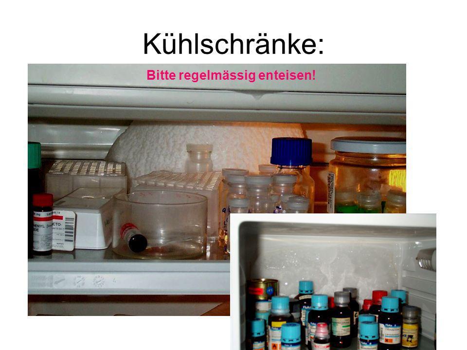 Kühlschränke: Bitte regelmässig enteisen!