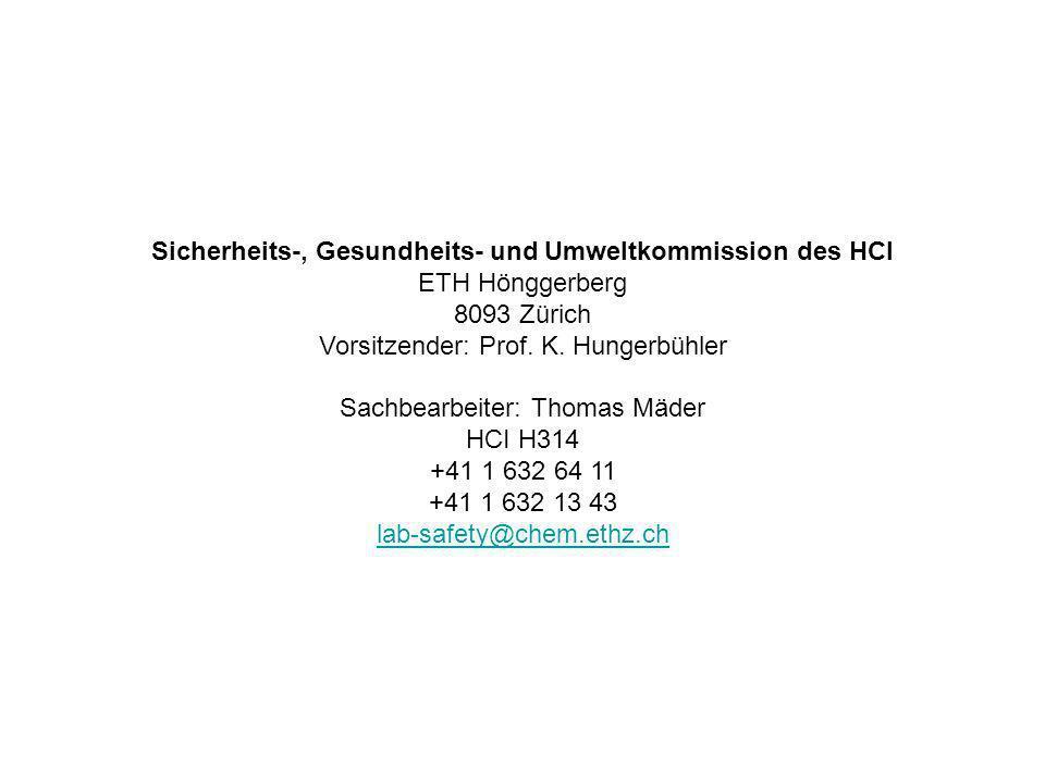Sicherheits-, Gesundheits- und Umweltkommission des HCI