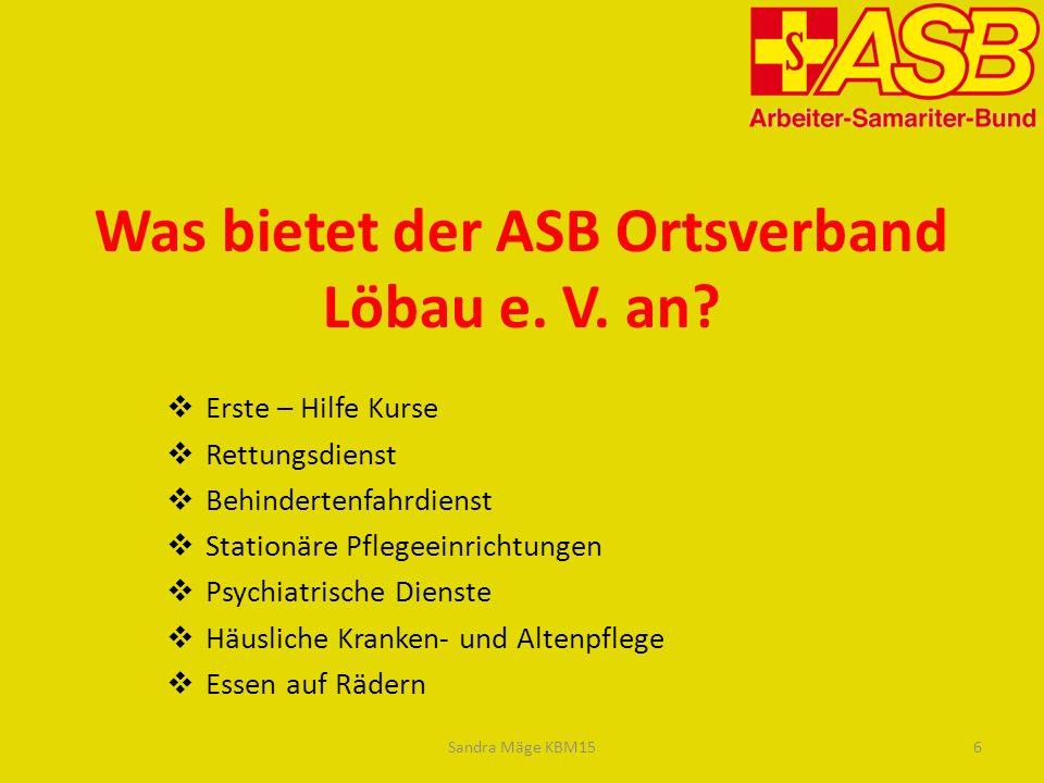 Was bietet der ASB Ortsverband Löbau e. V. an
