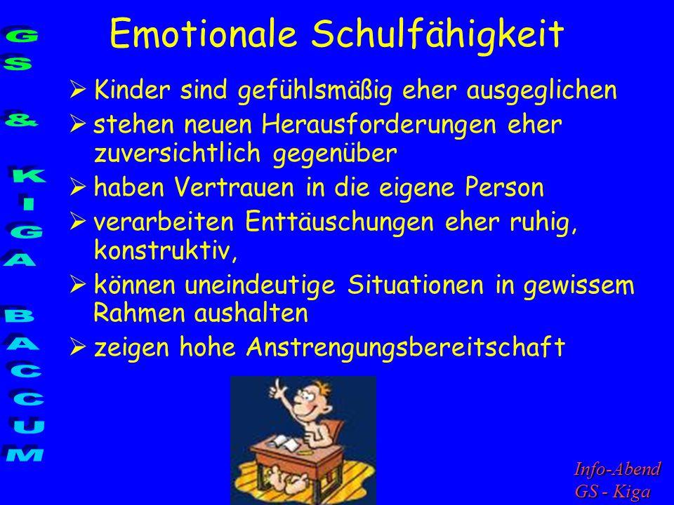 Emotionale Schulfähigkeit