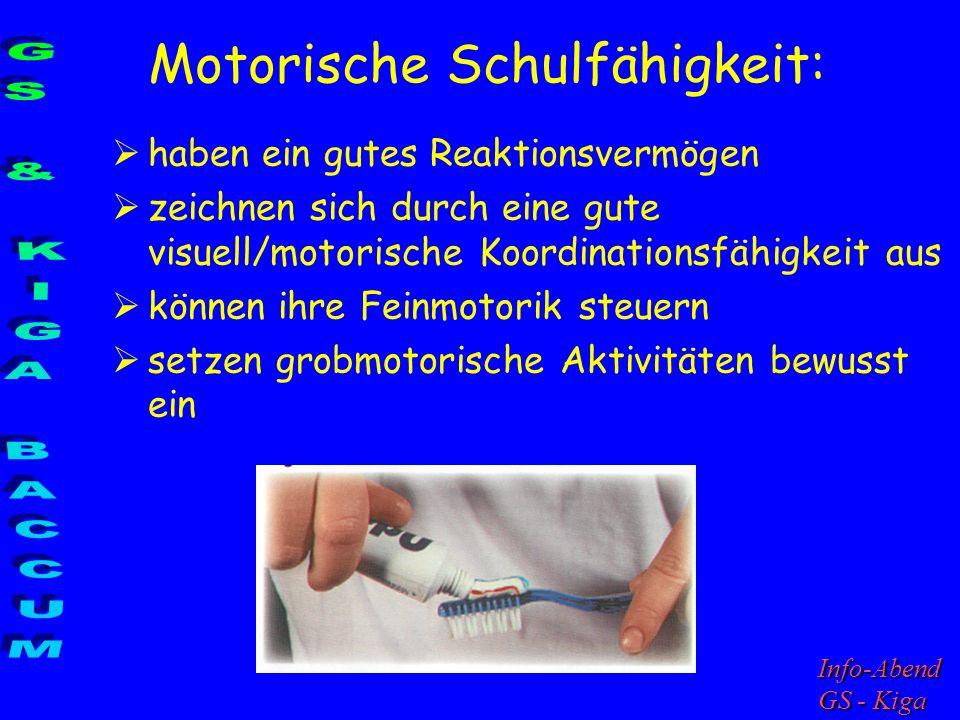 Motorische Schulfähigkeit: