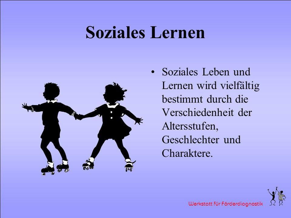Soziales LernenSoziales Leben und Lernen wird vielfältig bestimmt durch die Verschiedenheit der Altersstufen, Geschlechter und Charaktere.