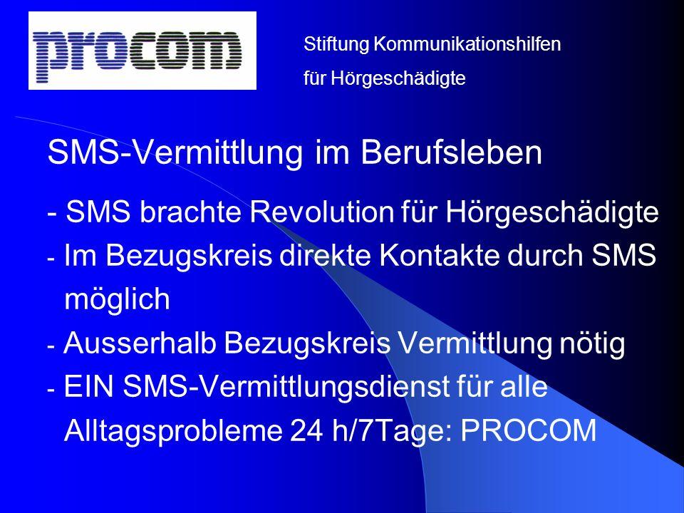 SMS-Vermittlung im Berufsleben