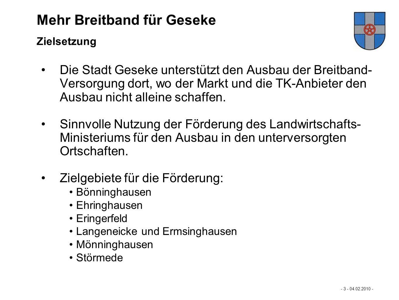 """Mehr Breitband für Geseke """"Mehr Breitband für Büren…"""