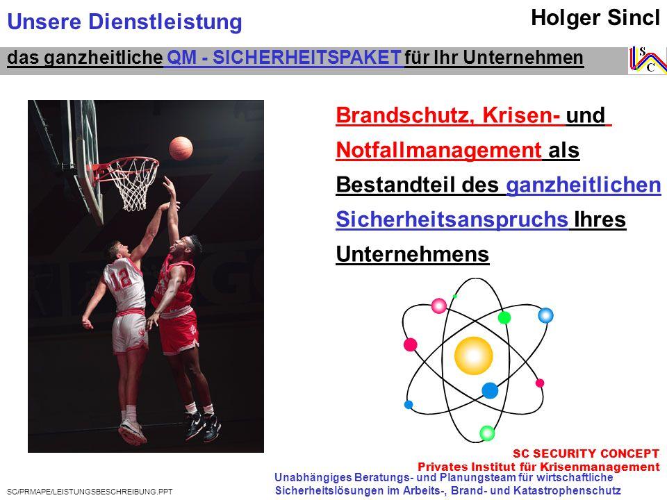 Unsere Dienstleistung Holger Sincl