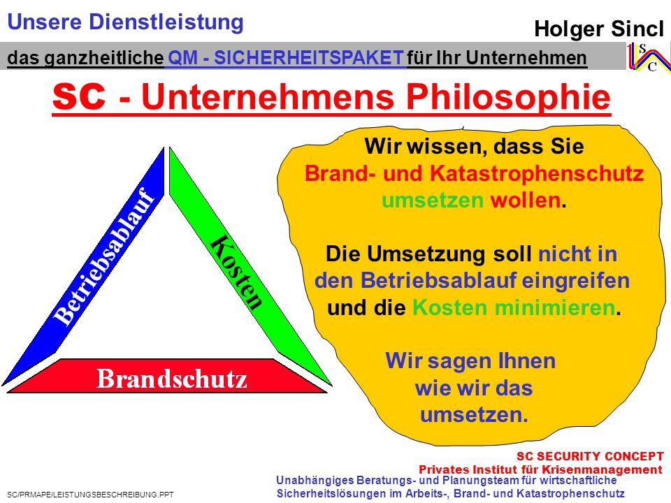 SC - Unternehmens Philosophie