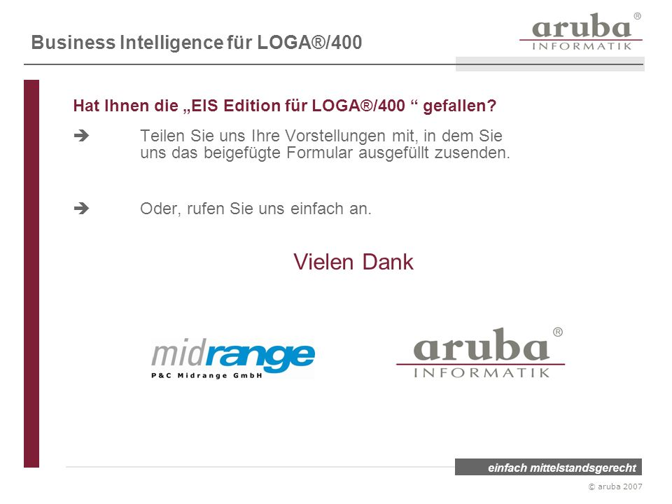 Business Intelligence für LOGA®/400