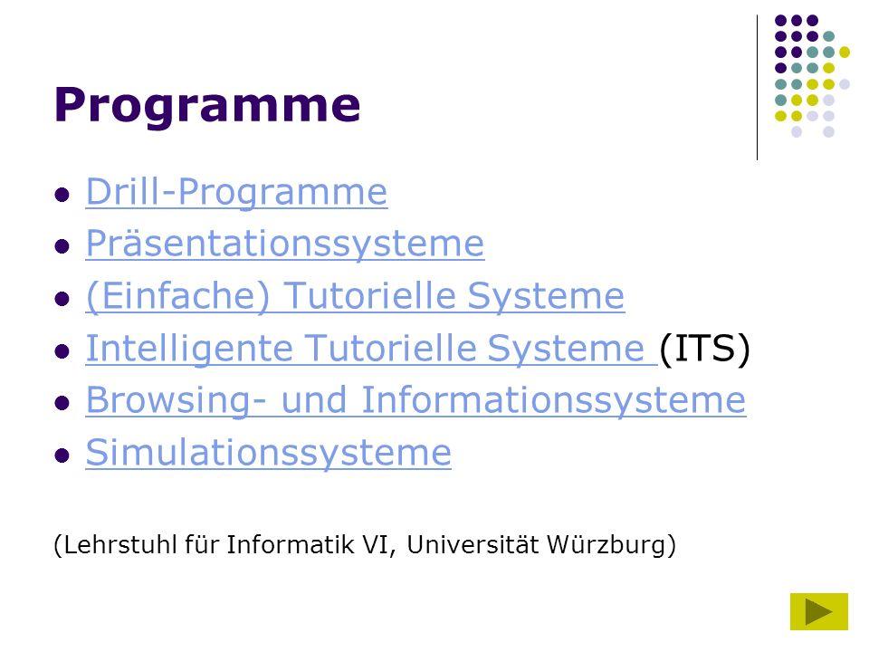 Programme Drill-Programme Präsentationssysteme